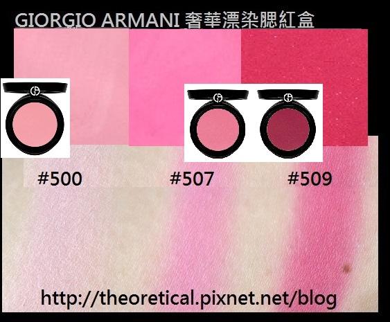 奢華漂染腮紅盒 Giorgio armani 500 507 509