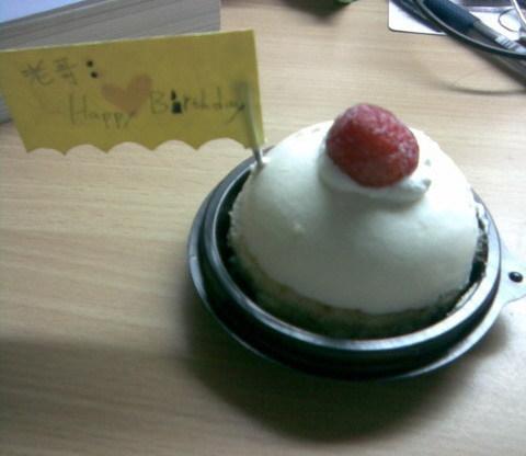 老弟準備的小蛋糕