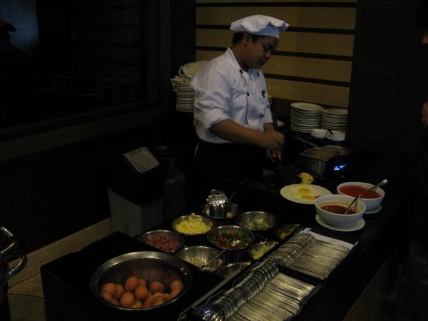 專門作蛋料理的廚師