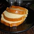 配咖哩蝦的軟麵包