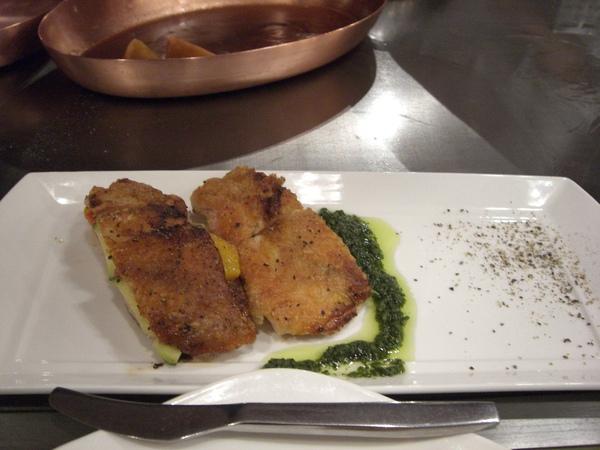 雞排+羅勒青醬