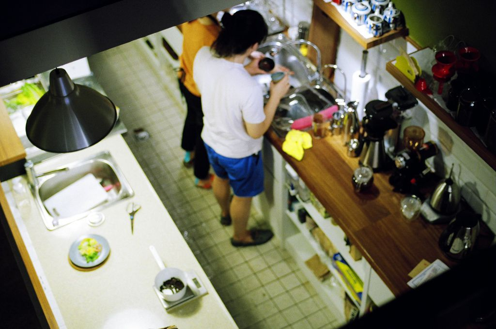 從二樓看廚房