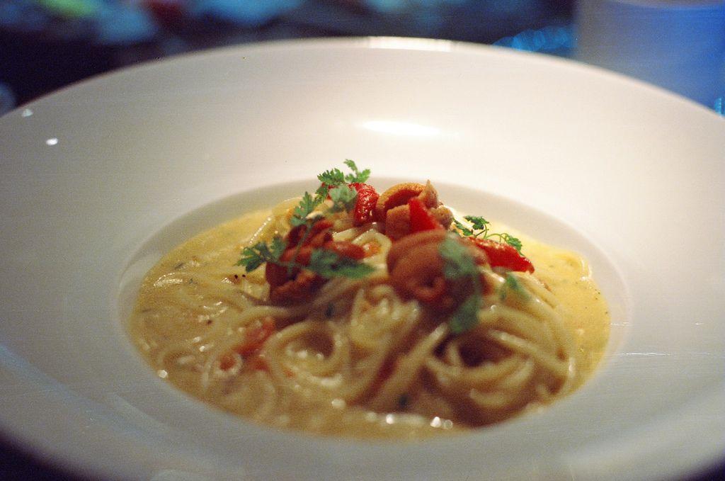 海膽佐義大利麵