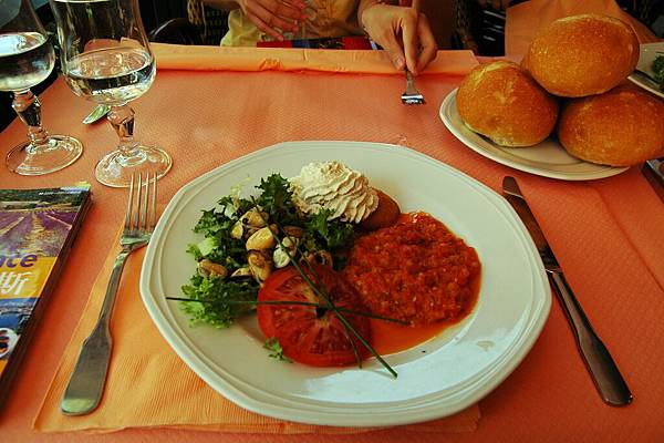 亞維濃:午餐的前菜沙拉