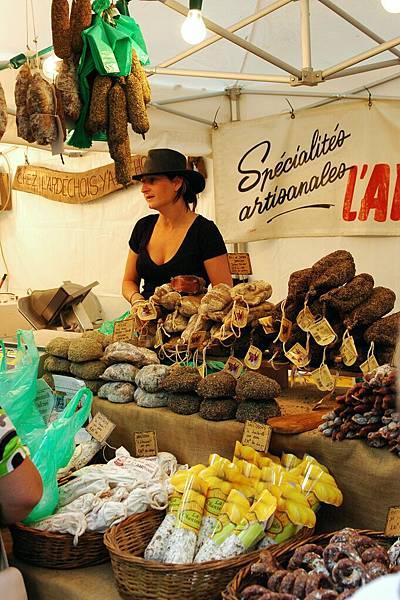 尼姆-賣火腿乳酪的攤子