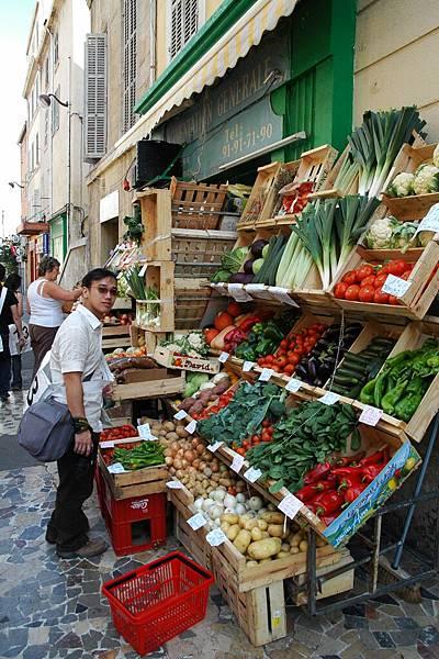 馬賽-當地的蔬菜攤