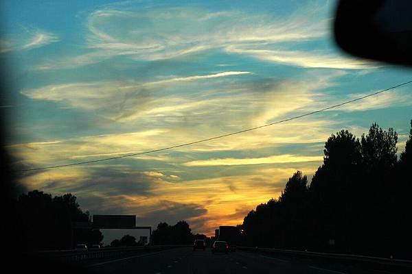 南法的夕陽