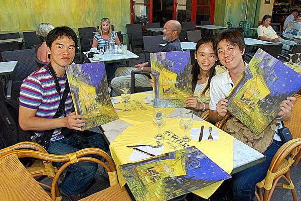 黃屋的菜單封面印有梵谷當年的畫