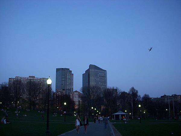 入夜的Boston Common