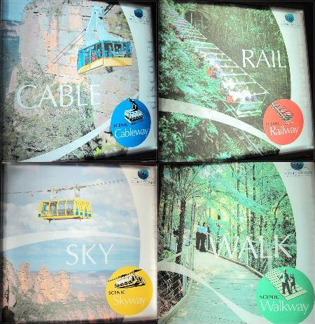 這個景點是Scenic World,有四種方式可以參觀藍山