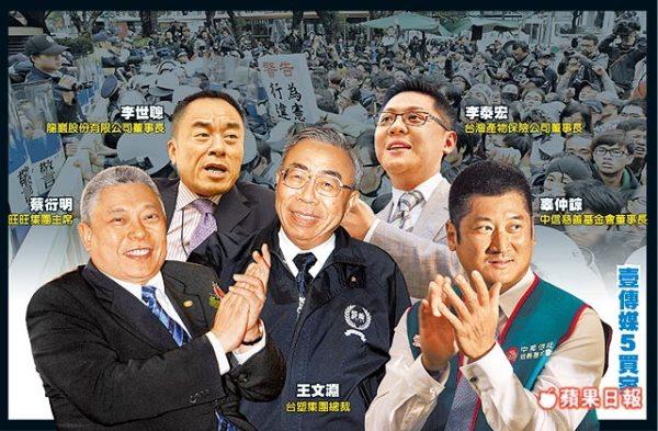 壹傳媒五買家