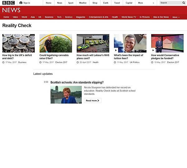 英國公視BBC於網站設置專屬網頁,刊播其所揭露的在社群媒體廣泛流傳的假新聞。.jpg