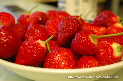 又紅又大粒的超甜草莓