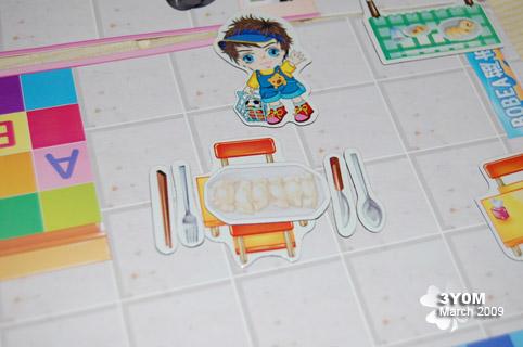寶貝逛超市裡的小磁鐵,連筷子刀叉都有耶