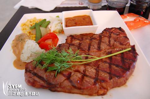加厚沙朗牛排全餐$580