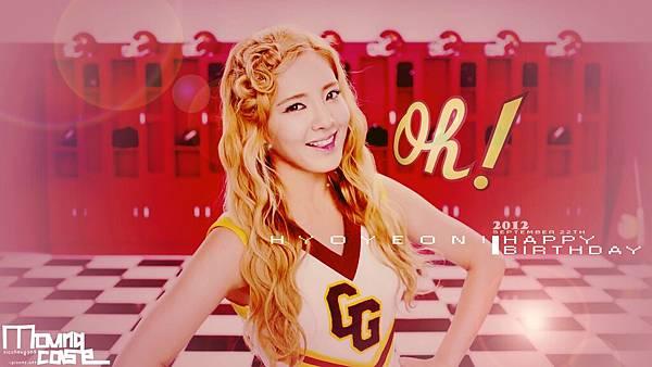 Oh hyoyeon! happy b-day wallpaper (1600*900)