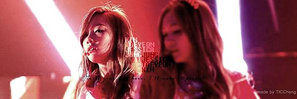 To be your best hero, I'll make it perfect. --taeyeon, jessica