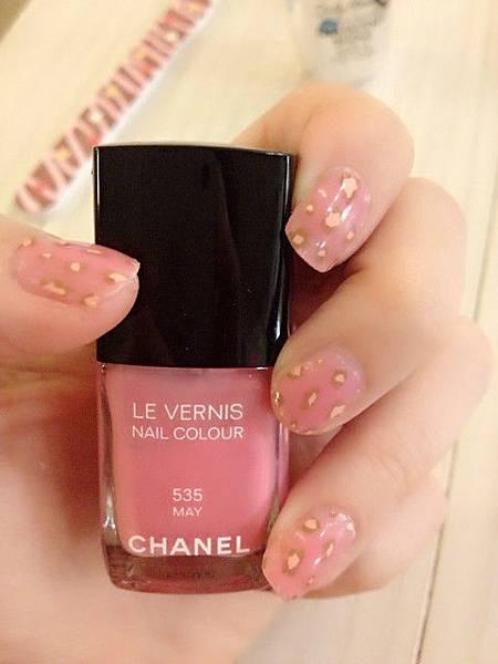 Pink leo nail 13