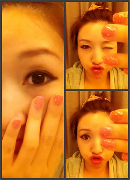 Pink leo nail 17