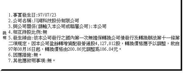 2059--2008.11.27 公司債轉換價格
