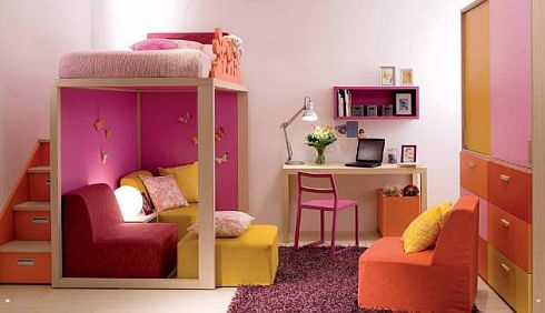 awesome-kids-room-designed-with-colorful-furnishings-and-alluring-study-space-design-completed-with-modern-seating-area-and-functional-stairway