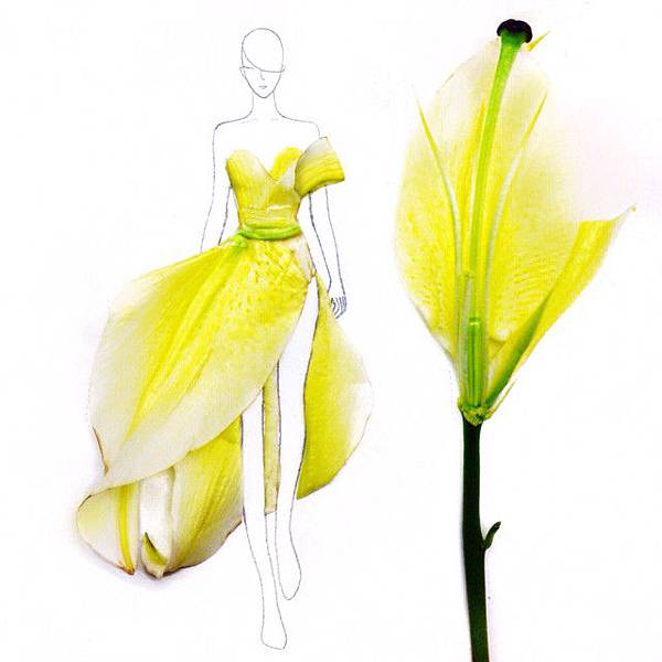 Lovely-Fashion-Illustrations-with-Real-Flower-Petals-by-Grace-Ciao5