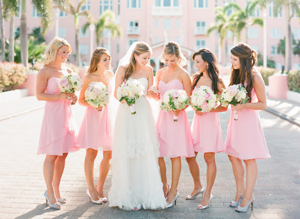 pink-wedding-bridesmaid-dresses