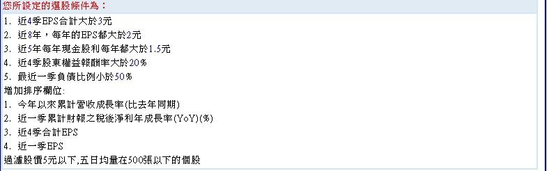 20151103長期獲利穩定高股東權益報酬率公司~2