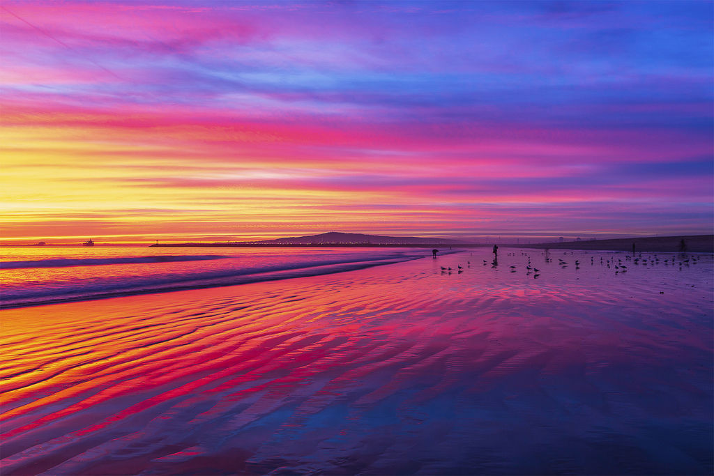 Sunset and sand pattern dating