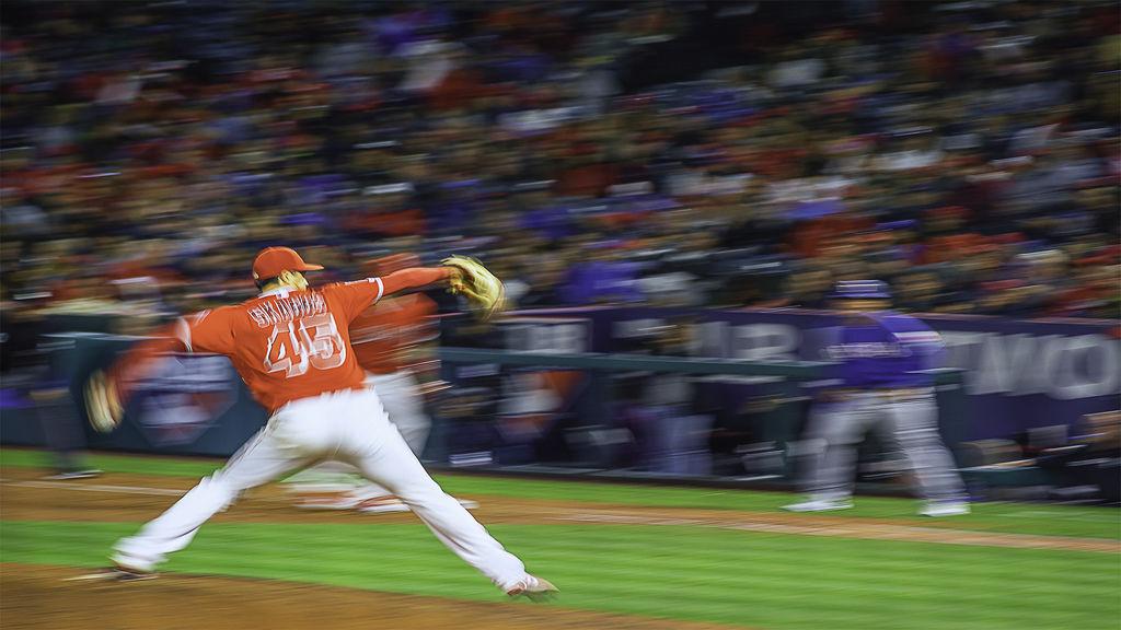 Baseball pitcher struggling pitch