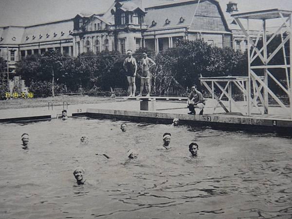 1926年啟用的台北東門游泳池,現址為台北市中正區運動中心