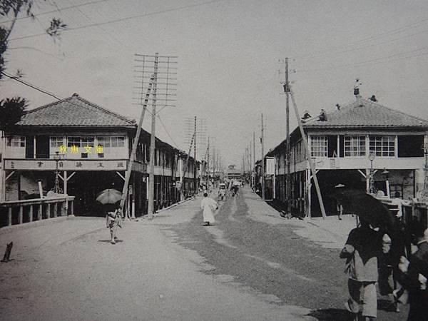 日本時代台中新盛橋通,現中山路及中山綠橋