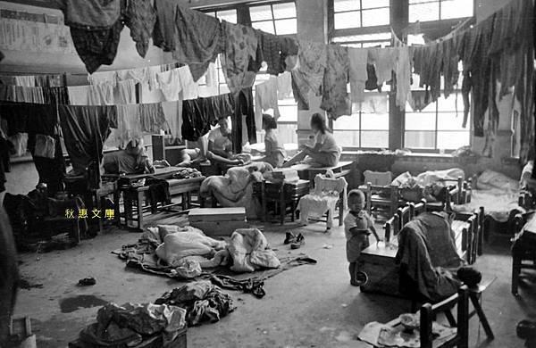 1963年葛樂禮颱風在小學教室暫住的受災户