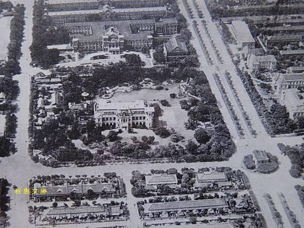 約1930年代台北三線道(現中山南路),總督官邸,台大醫院.