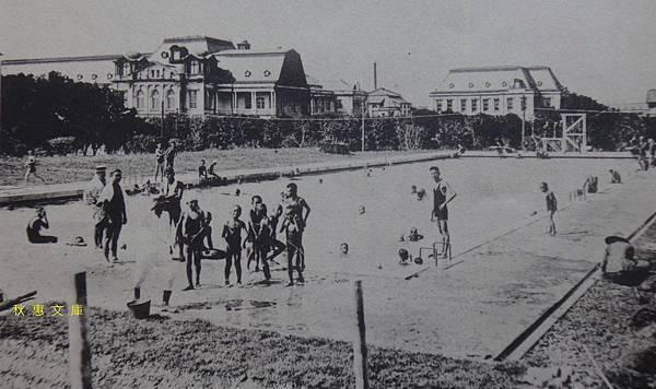 約1920年代台北市營游泳池後來的東門游泳池