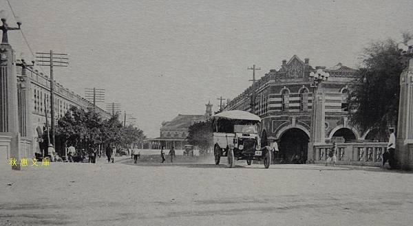 日本時代台中櫻橋遠望台中車站