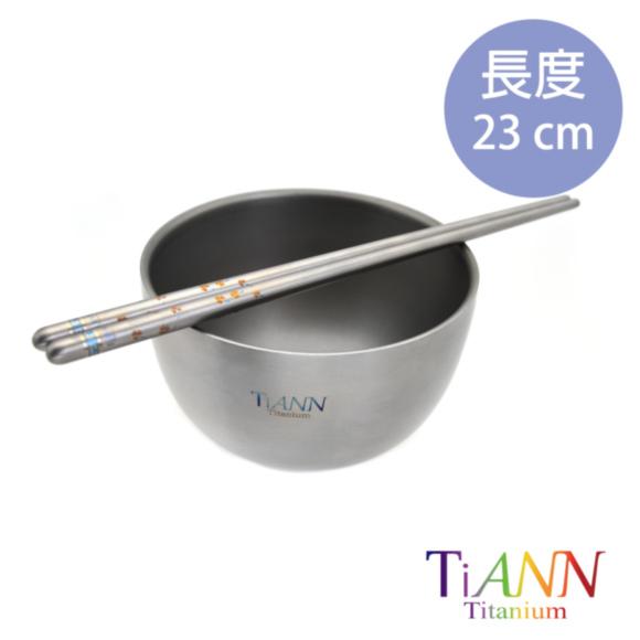 鈦安TiANN純鈦筷子_幸運草金_02.JPG