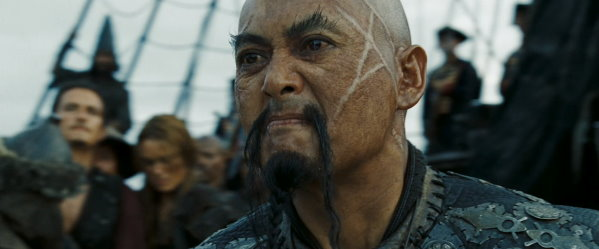 2013 Iron Man 3 015 Sao Fen's Fu Manchu mustache in Pirates of the Caribbean 3