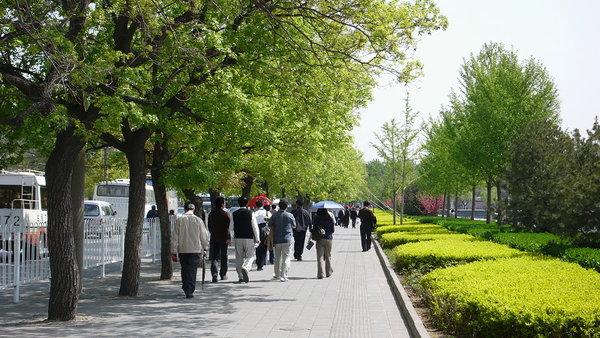 故宮外圍的人行道