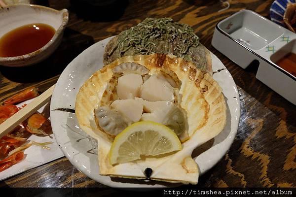 函館 海產店  考扇貝