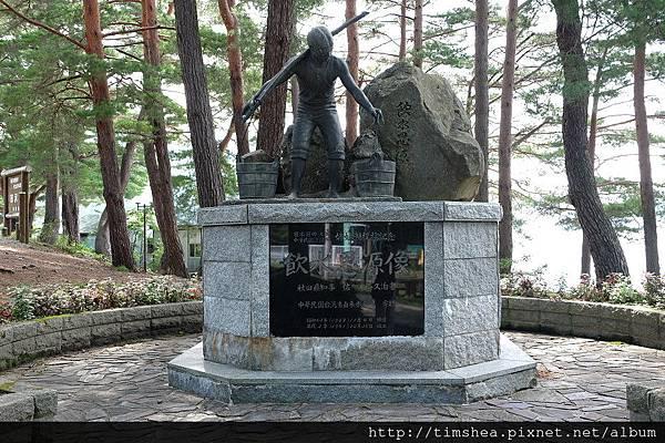 田澤湖畔  紀念碑
