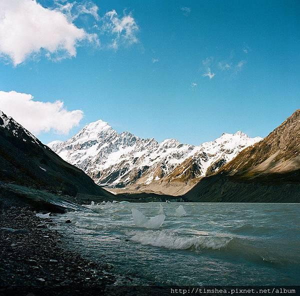 庫克山  冰河