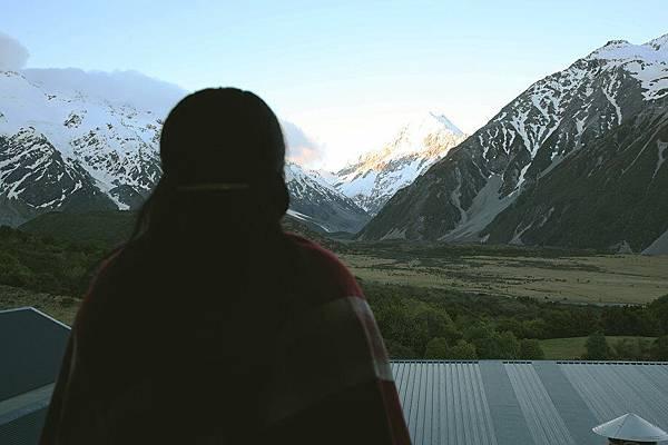 從客房陽台看庫克山
