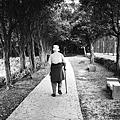 散步的老人