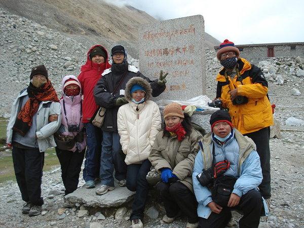 珠峰大本營紀念碑