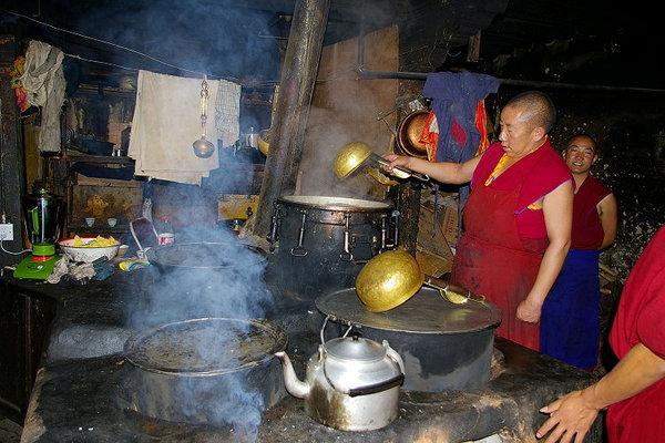 哲蚌寺 廚房