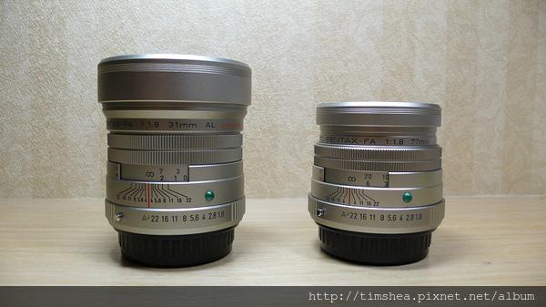 Pentax 兩顆限量鏡