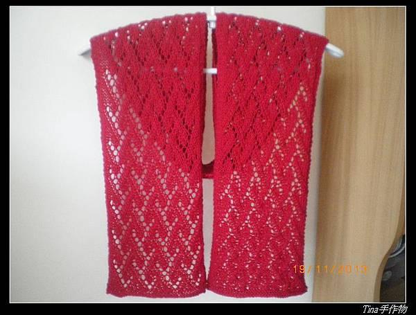 愛心圍巾3