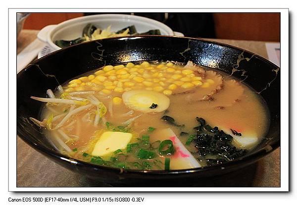 奶油玉米味噌拉麵一碗NT110