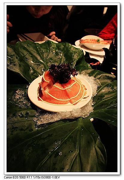 18刺身-洋蔥燻鮭魚刺身